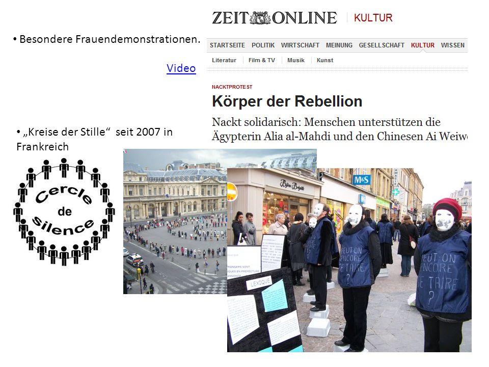 Besondere Frauendemonstrationen… Video Kreise der Stille seit 2007 in Frankreich