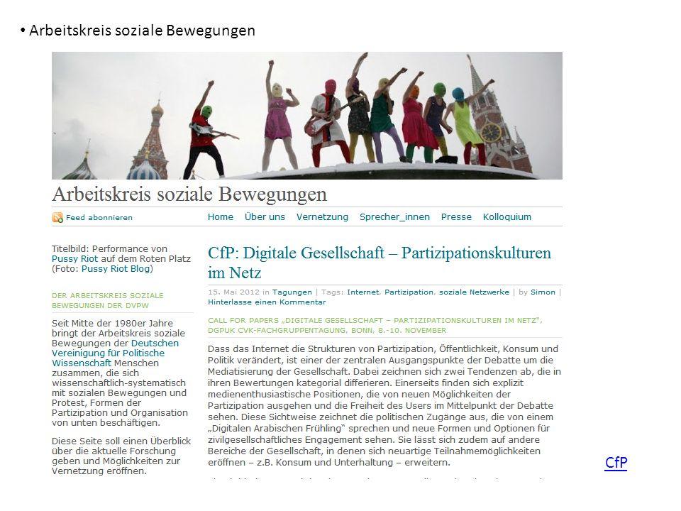Arbeitskreis soziale Bewegungen CfP