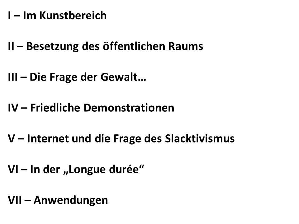 III – Die Frage der Gewalt… Aus einer Lehrveranstaltung (Uni Graz): Der Terminus symbolische Gewalt ist eine contradictio in adjecto, ein Widerspruch in sich, denn er lenkt die Aufmerksamkeit auf gewaltlose Manifestationen von Gewalt.
