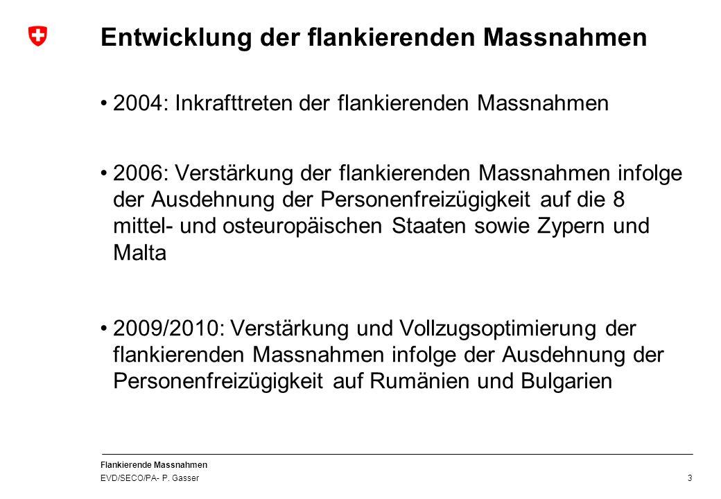 Flankierende Massnahmen EVD/SECO/PA- P.