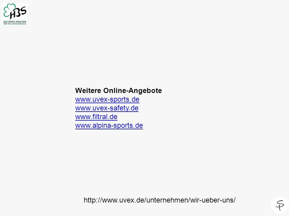 http://www.uvex.de/unternehmen/wir-ueber-uns/ Weitere Online-Angebote www.uvex-sports.de www.uvex-safety.de www.filtral.de www.alpina-sports.de