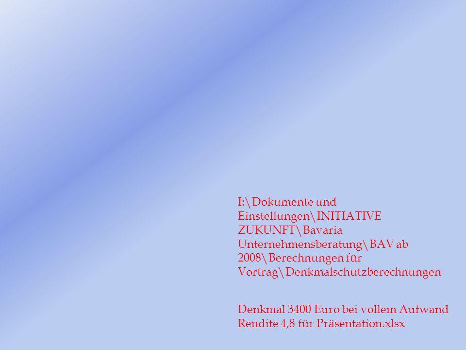 Denkmal 3400 Euro bei vollem Aufwand Rendite 4,8 für Präsentation.xlsx I:\Dokumente und Einstellungen\INITIATIVE ZUKUNFT\Bavaria Unternehmensberatung\