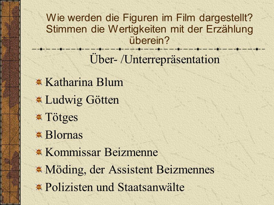 Eine Analyse Die Schlöndorff – Verfilmung