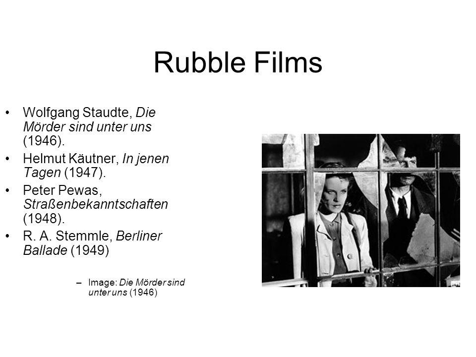 Rubble Films Wolfgang Staudte, Die Mörder sind unter uns (1946).