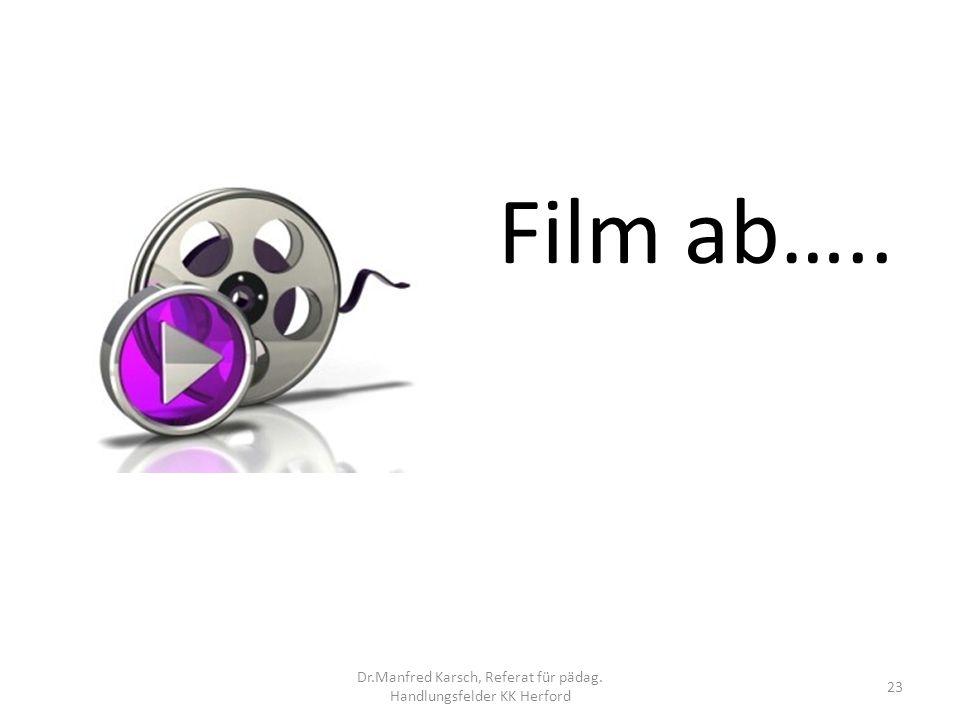 Film ab….. 23 Dr.Manfred Karsch, Referat für pädag. Handlungsfelder KK Herford