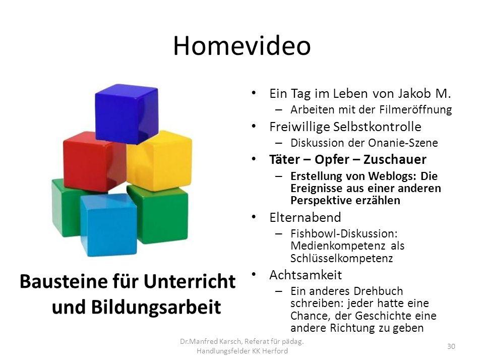 Homevideo Bausteine für Unterricht und Bildungsarbeit Ein Tag im Leben von Jakob M. – Arbeiten mit der Filmeröffnung Freiwillige Selbstkontrolle – Dis