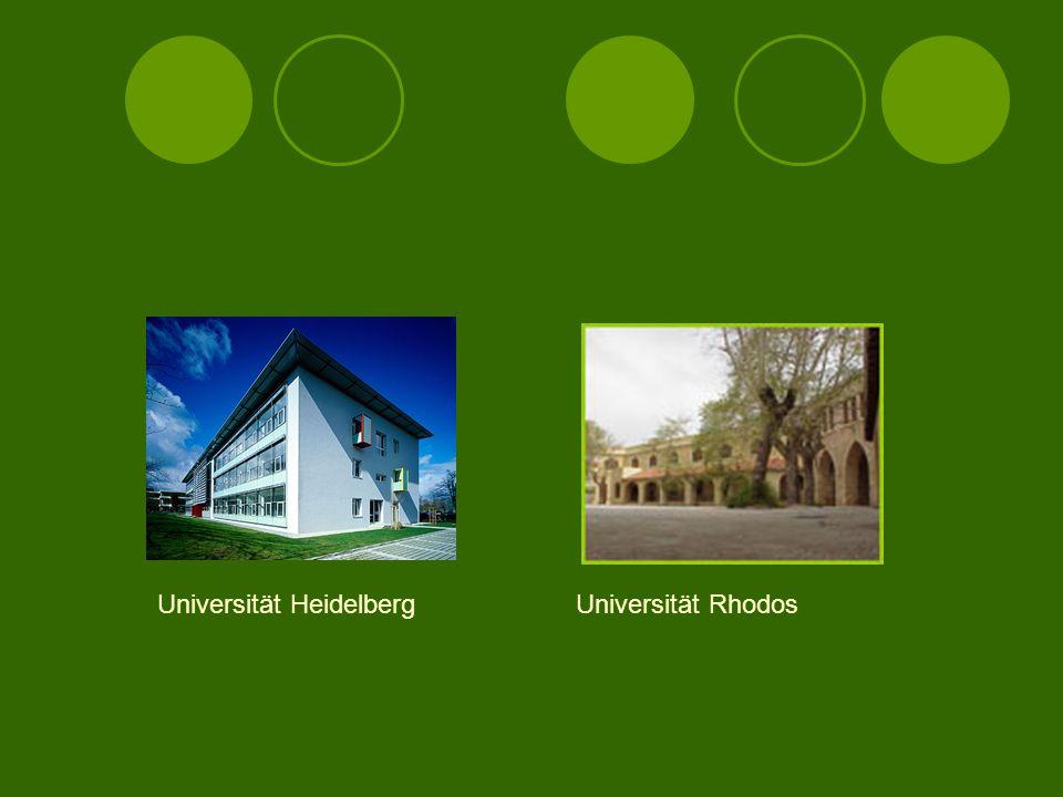 Fotos einiger Universitäten Universität AthenRuhr-Universität Bochum