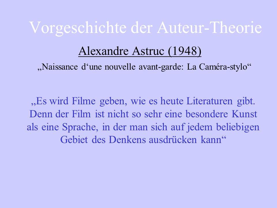 Film als Kunst und nicht als Unterhaltungsindustrie, nicht im Sinne d. frühen Autorenfilms durch Orientierung an literarischen Werken, sondern durch e