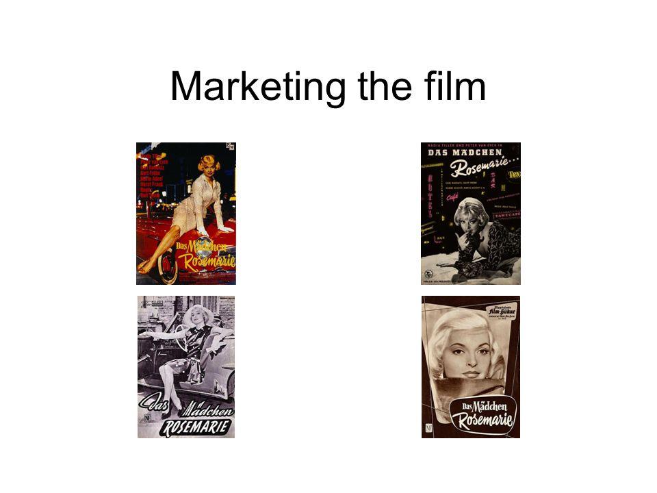 Marketing the film
