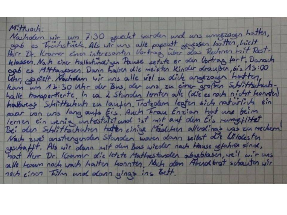 Donnerstag 07.30 UhrWecken 08.00 Uhr – 08.30 UhrFrühstück 08.30 Uhr – 09.15 UhrBeweisen [Herr Bader] (6+7) – Aufgabentraining (5.) 09.45 Uhr – 12.00 Uhr Aufgabentraining in Klassengruppen (Beweisen – Begründen) 12.00 Uhr Mittagessen im Schullandheim 13.00 Uhr – 14.30 Uhr Specksteinbasteleien 15.00 Uhr – 17.00 Uhr Aufgabentraining und Auswertung der MOly 2.