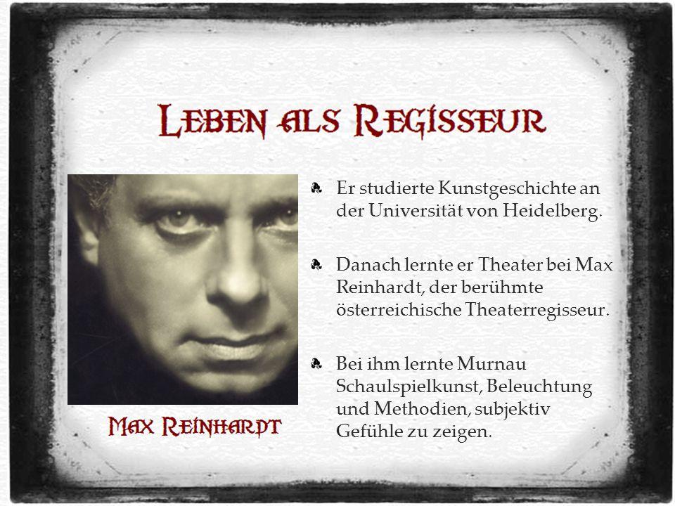 Er studierte Kunstgeschichte an der Universität von Heidelberg.