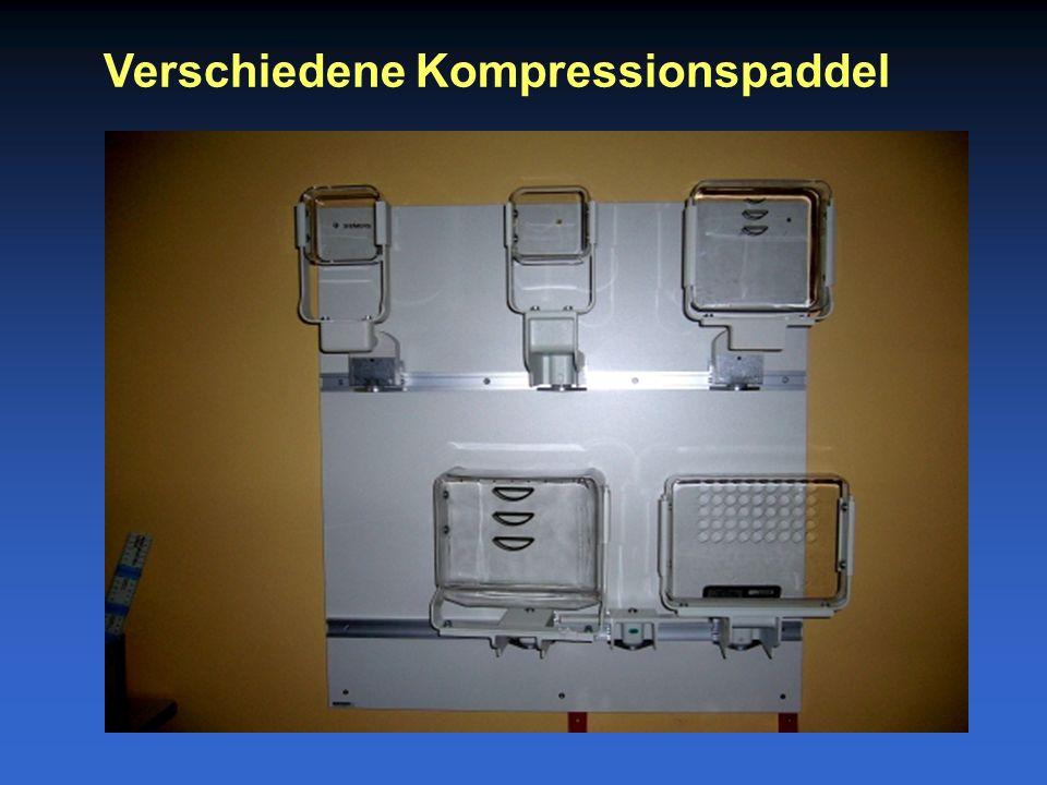 Verschiedene Kompressionspaddel
