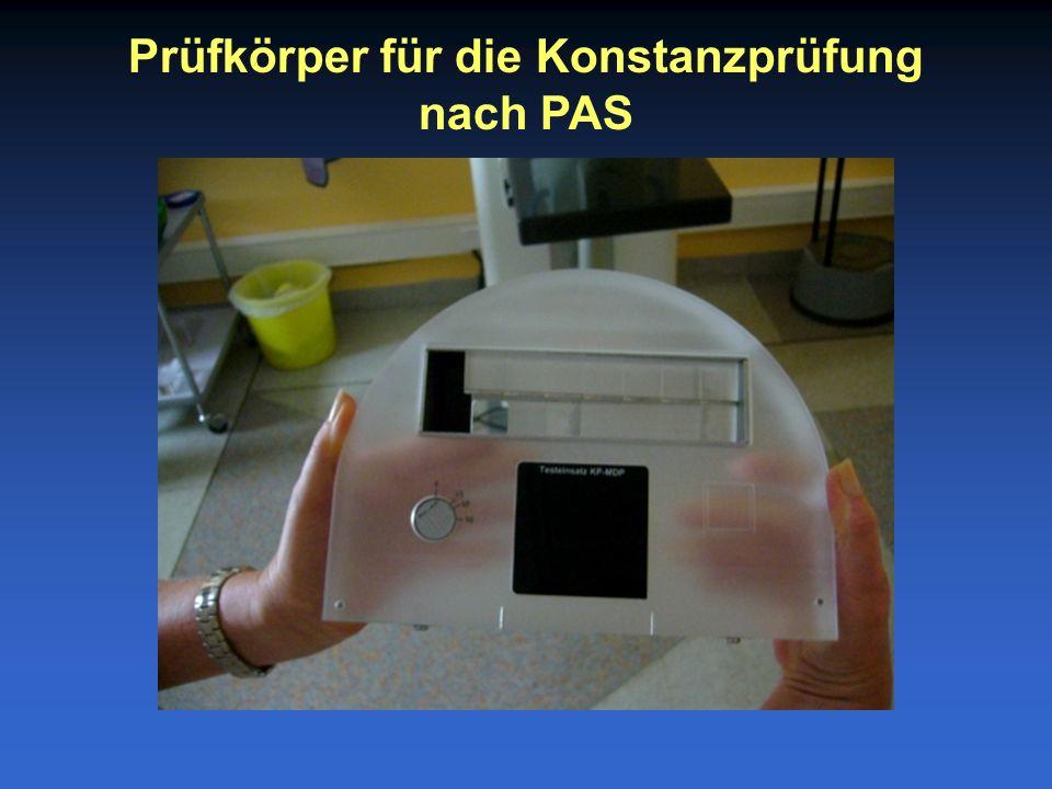 Prüfkörper für die Konstanzprüfung nach PAS