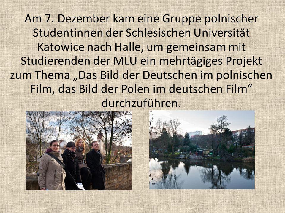 Am 7. Dezember kam eine Gruppe polnischer Studentinnen der Schlesischen Universität Katowice nach Halle, um gemeinsam mit Studierenden der MLU ein meh