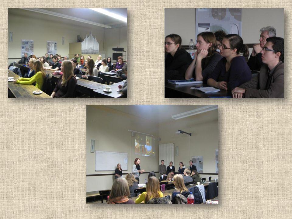 Am Nachmittag präsentierten die Studentinnen der Kulturwissenschaften von der Schlesischen Universität Katowice ihre Beiträge.