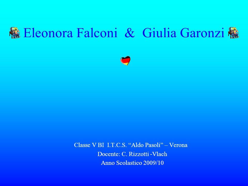 Eleonora Falconi & Giulia Garonzi Classe V BI I.T.C.S. Aldo Pasoli – Verona Docente: C. Rizzotti -Vlach Anno Scolastico 2009/10