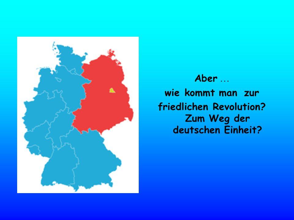 Aber … wie kommt man zur friedlichen Revolution? Zum Weg der deutschen Einheit?
