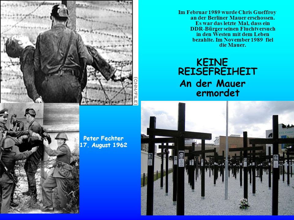 Im Februar 1989 wurde Chris Gueffroy an der Berliner Mauer erschossen. Es war das letzte Mal, dass ein DDR-Bürger seinen Fluchtversuch in den Westen m