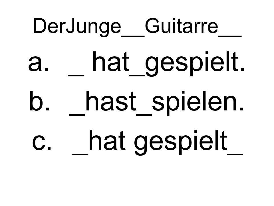 DerJunge__Guitarre__ a._ hat_gespielt. b._hast_spielen. c._hat gespielt_