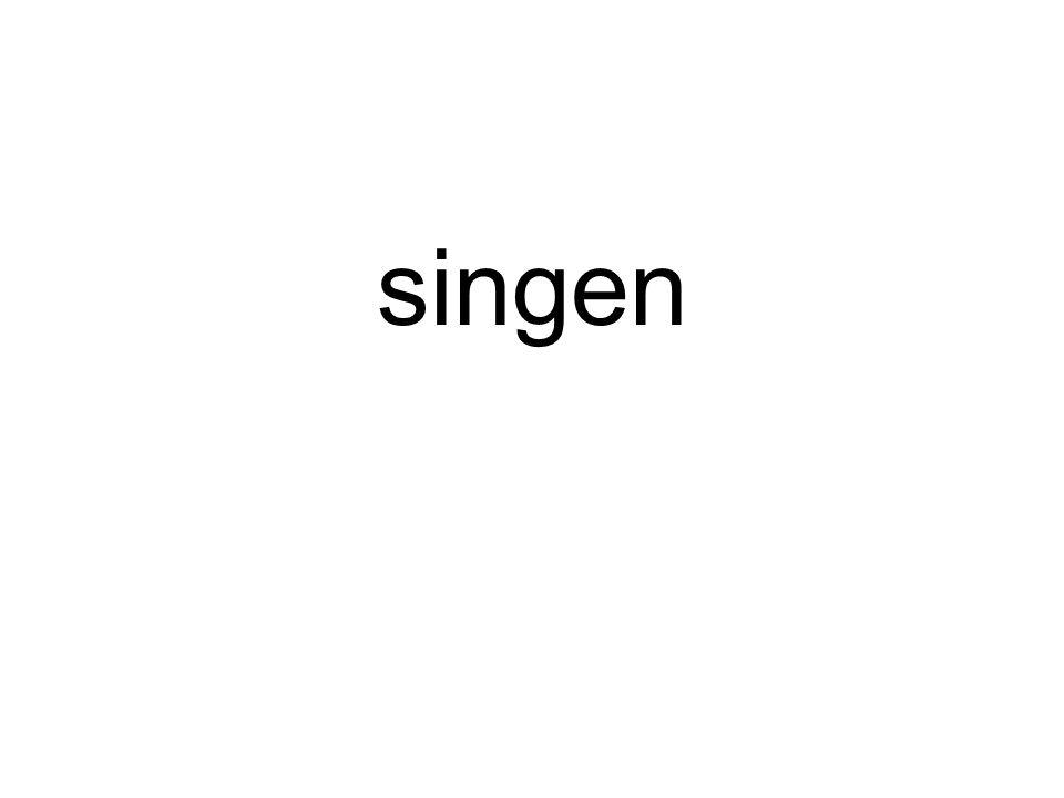 Er hat gesungen.
