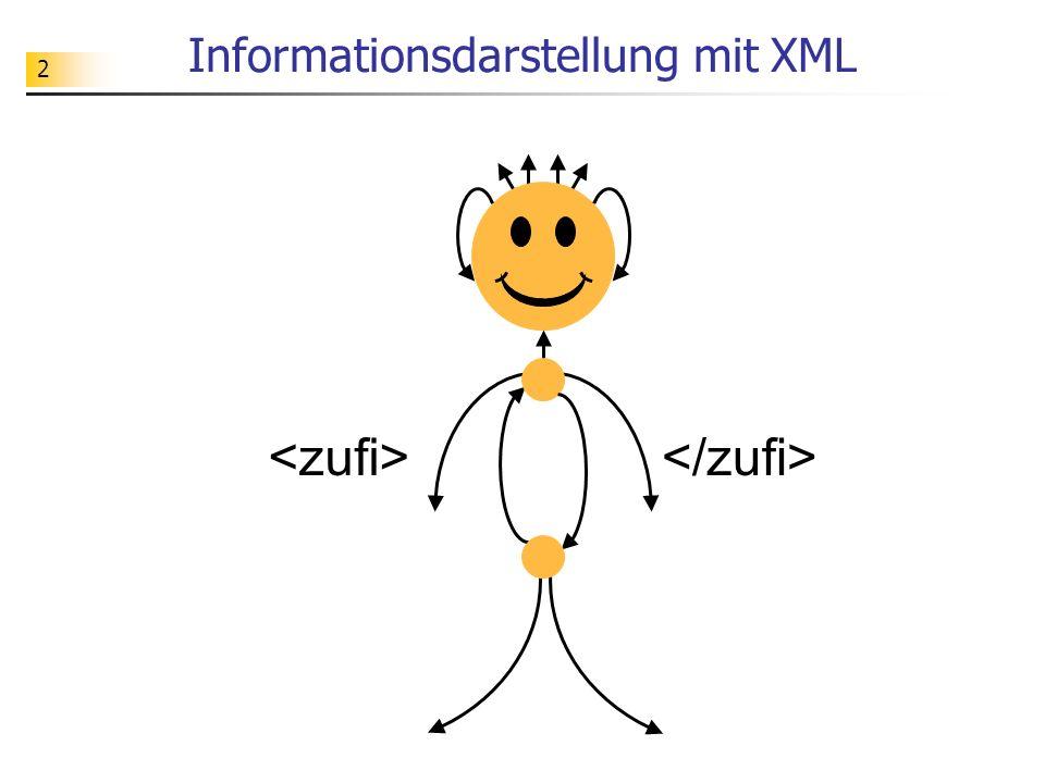 33 XML-Dokumente Informatik Grundkurs 11 11-in-1 Montag 7 B04 Mittwoch 3 Mittwoch 4...