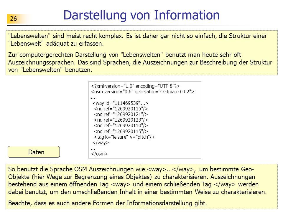 26 Darstellung von Information Daten
