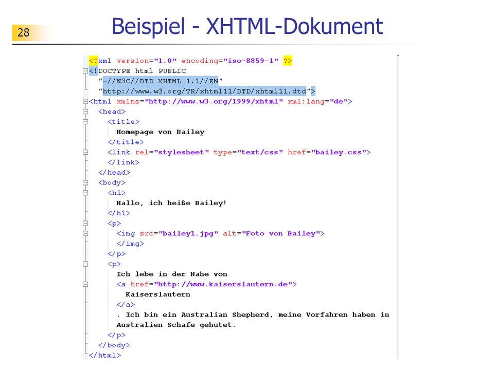 28 Beispiel - XHTML-Dokument