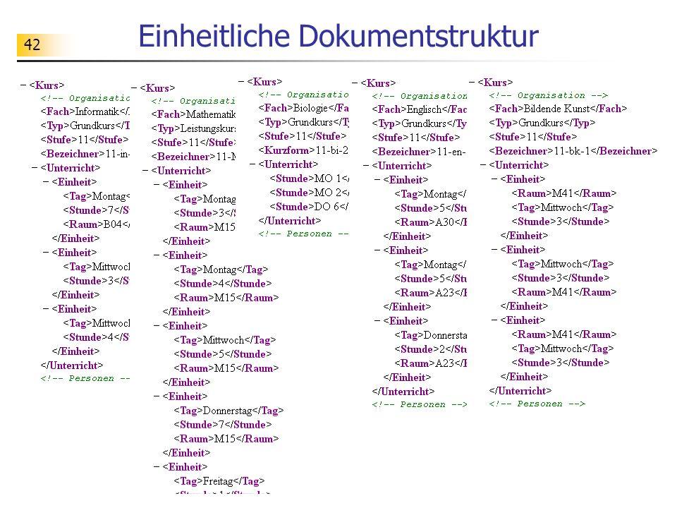 42 Einheitliche Dokumentstruktur