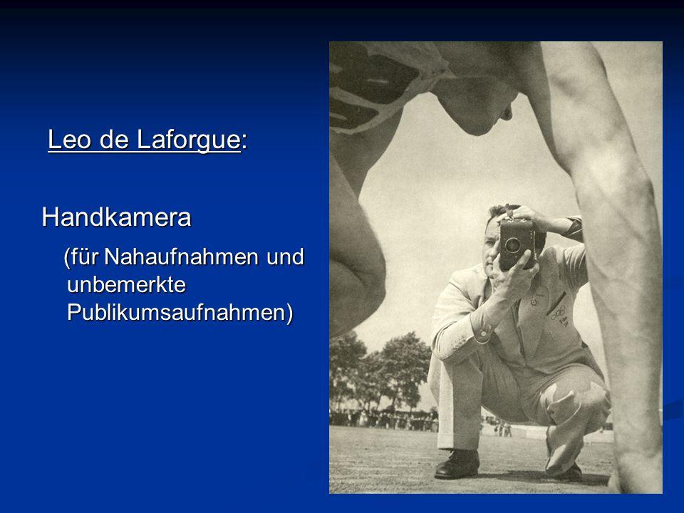 . Leo de Laforgue: Leo de Laforgue:Handkamera (für Nahaufnahmen und unbemerkte Publikumsaufnahmen) (für Nahaufnahmen und unbemerkte Publikumsaufnahmen