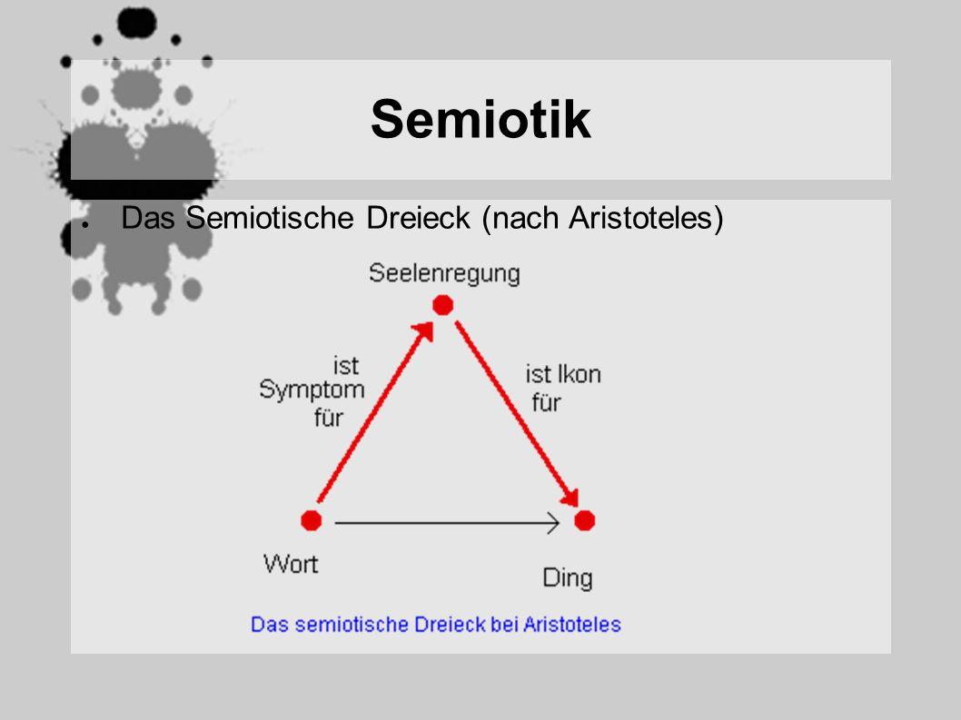 Semiotik Das Semiotische Dreieck (nach Aristoteles)