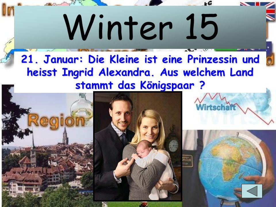 Winter 10 Links die am 7. Januar ermordete Politikerin, rechts der Mörder. Sie hiess Anna Lindh und war Aussenministerin. Von welchem Land ?