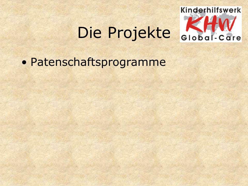 Die Projekte Patenschaftsprogramme