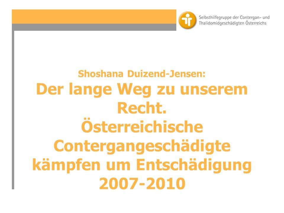 Shoshana Duizend-Jensen: Der lange Weg zu unserem Recht.