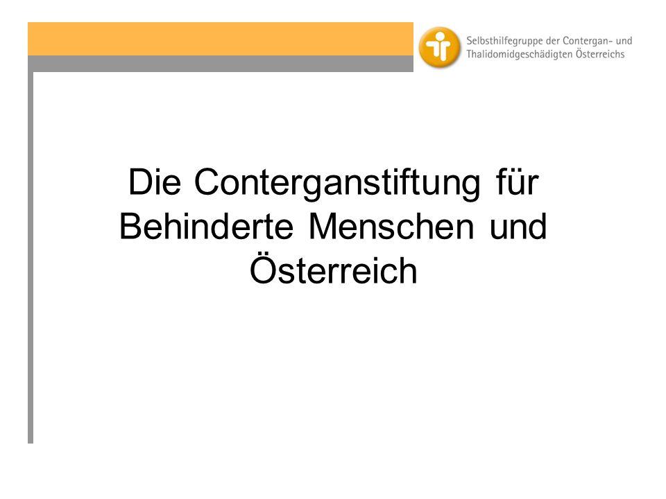 Die Conterganstiftung für Behinderte Menschen und Österreich