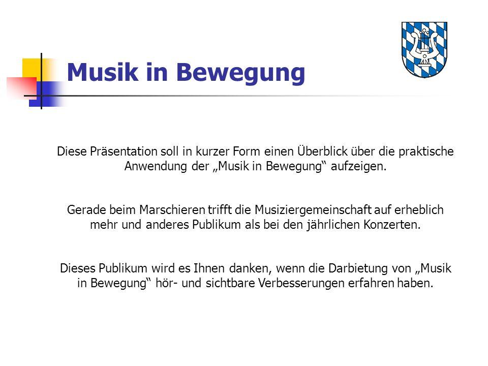 Musik in Bewegung Diese Präsentation soll in kurzer Form einen Überblick über die praktische Anwendung der Musik in Bewegung aufzeigen. Gerade beim Ma