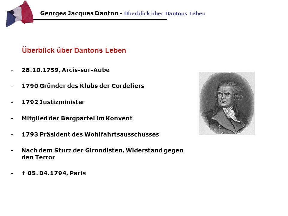 Politischer Werdegang Teil 1 1790 gründete er mit Marat, Hébert und Desmoulins den Club Cordeliers.