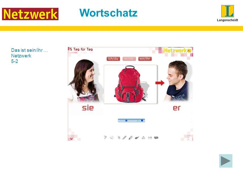 Wortschatz Das ist sein/ihr … Netzwerk 5-2