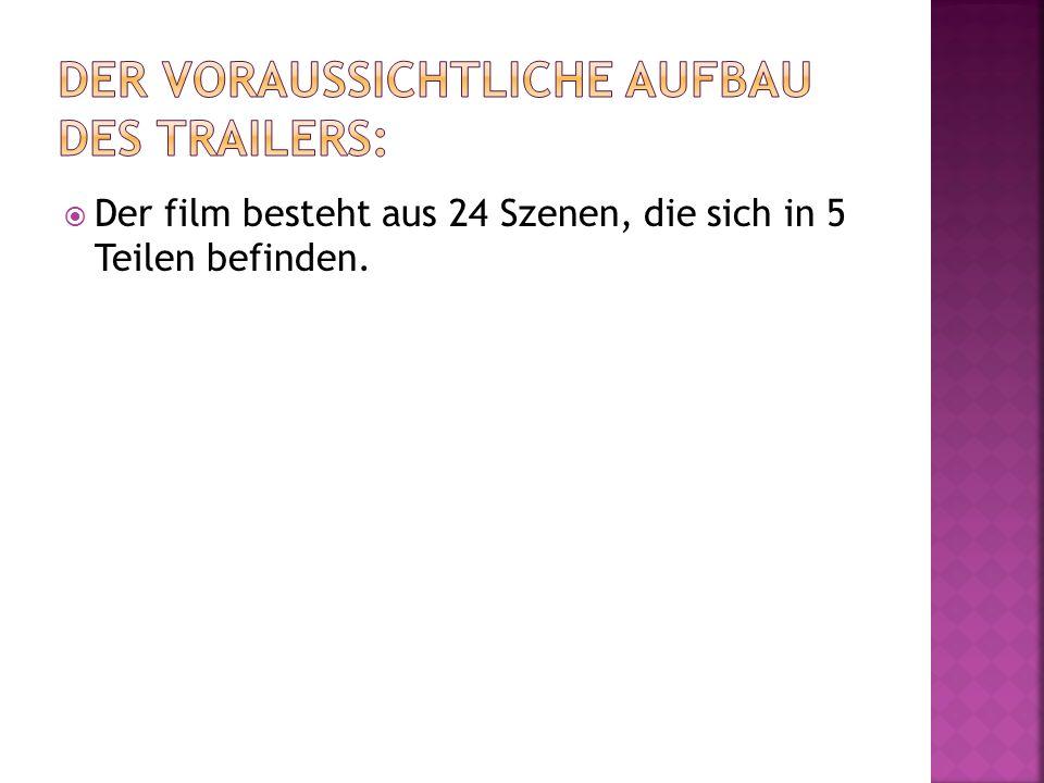Der film besteht aus 24 Szenen, die sich in 5 Teilen befinden.