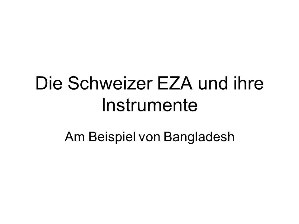 Die Schweizer EZA und ihre Instrumente Am Beispiel von Bangladesh