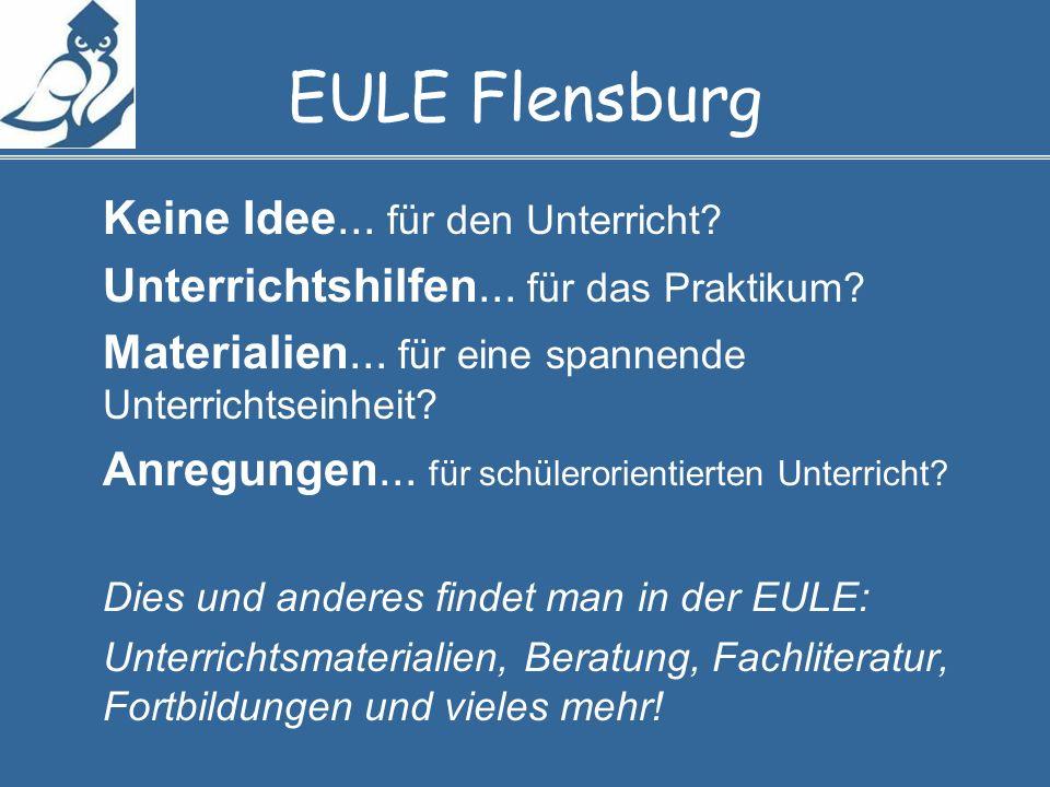 EULE Flensburg Keine Idee... für den Unterricht. Unterrichtshilfen...