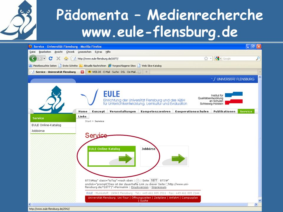 Pädomenta – Medienrecherche www.eule-flensburg.de