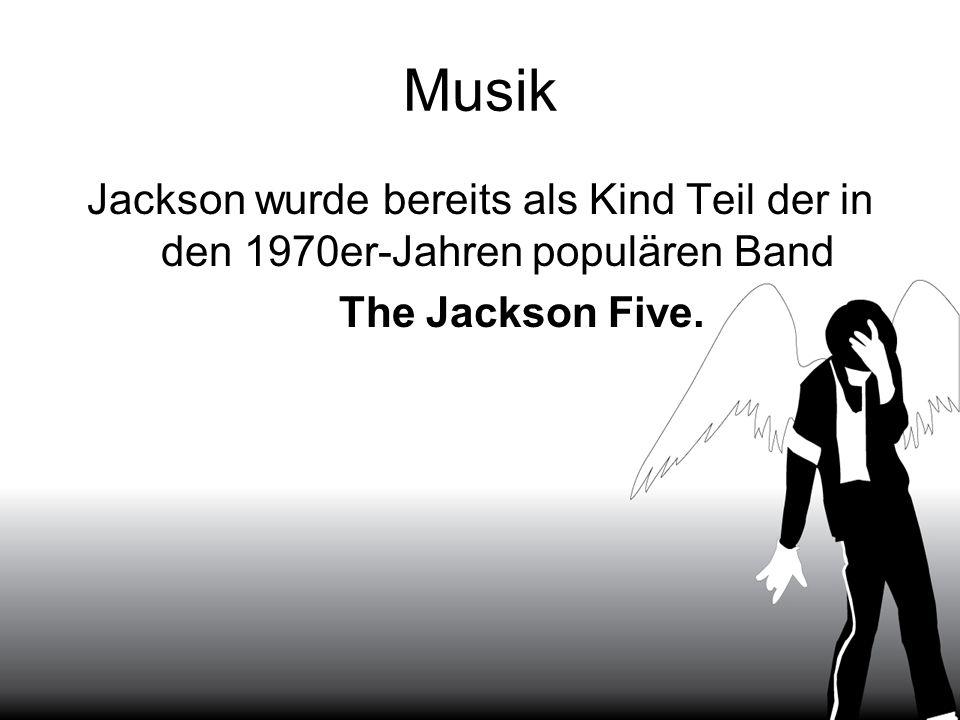 Musik Jackson wurde bereits als Kind Teil der in den 1970er-Jahren populären Band The Jackson Five.