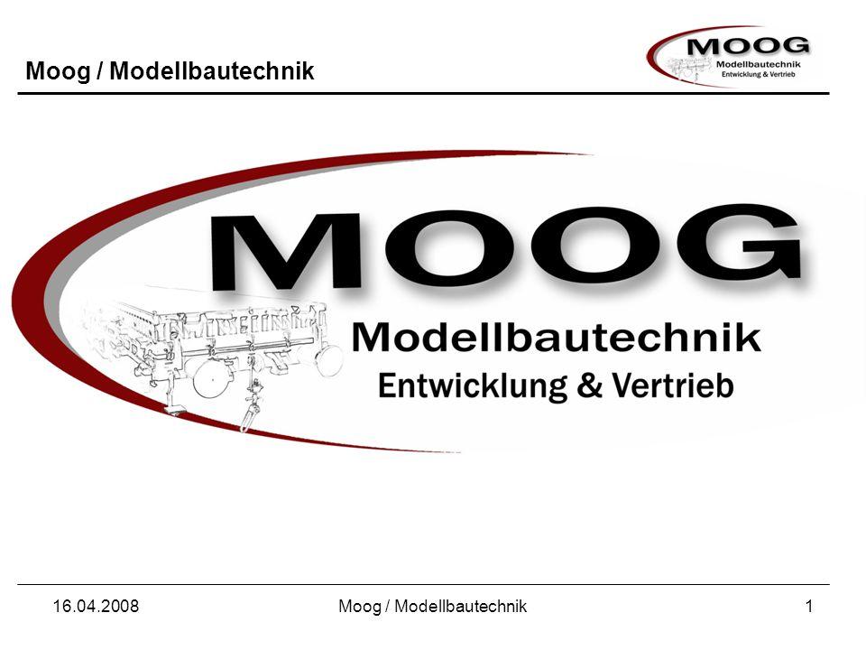 Moog / Modellbautechnik 16.04.2008Moog / Modellbautechnik1