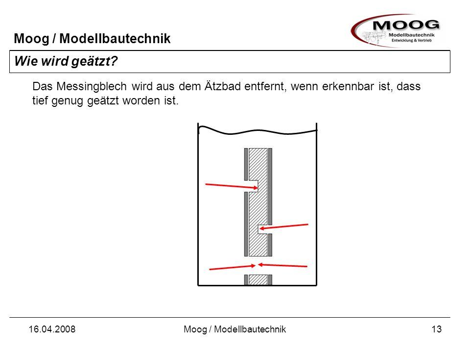 Moog / Modellbautechnik 16.04.2008Moog / Modellbautechnik14 Wie wird geätzt.