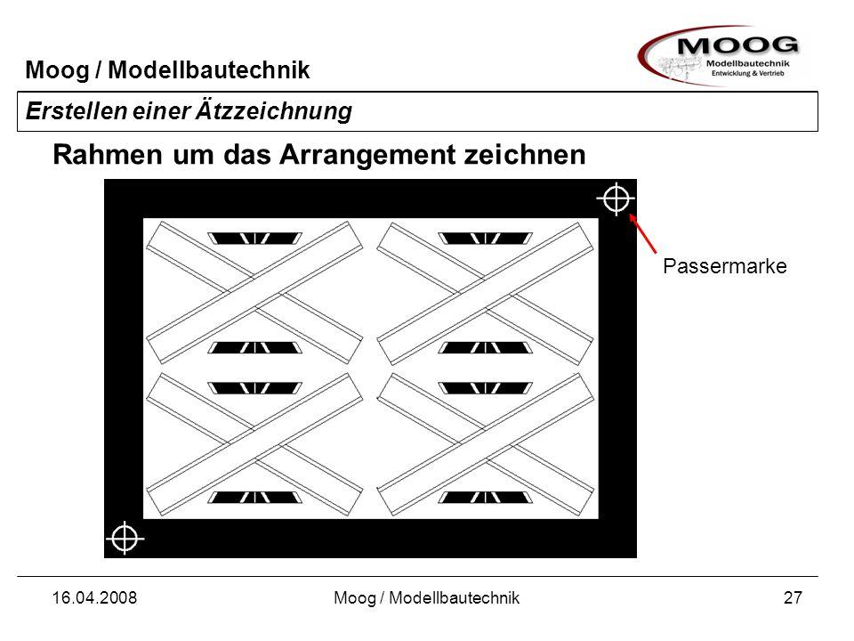 Moog / Modellbautechnik 16.04.2008Moog / Modellbautechnik28 Erstellen einer Ätzzeichnung Füllen Sie alle großen, nicht benutzten Flächen aus.