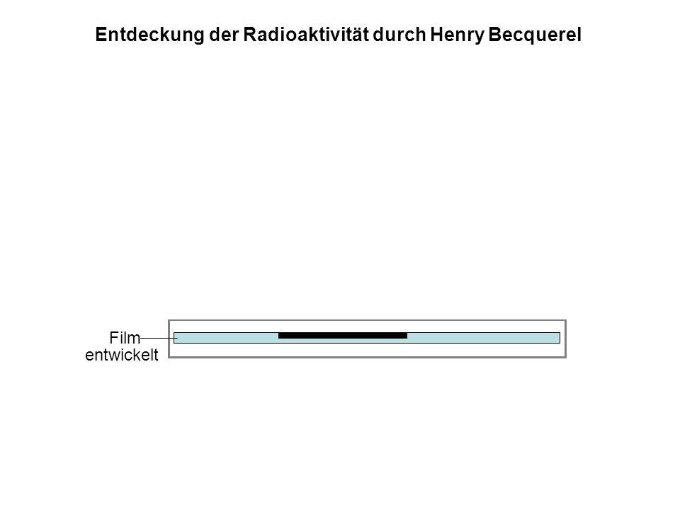 Film Metallfolie, lichtundurchlässig Sonnenlicht Uransalz entwickelt Entdeckung der Radioaktivität durch Henry Becquerel