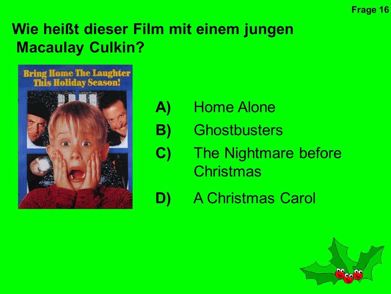Wem gehört die Stimme in diesem Weihnachtsfilm.