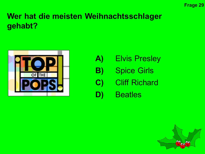 Von welchem Land bekommen wir jedes Jahr den Weihnachtsbaum geschenkt, der in Trafalgar Square steht A)Amerika B)Norwegen C)Deutschland D)Frankreich Frage 28