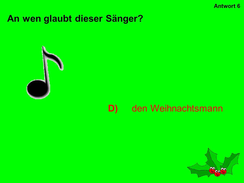 C)The Santa Clause Wie heißt dieser Weihnachtsfilm: Antwort 5