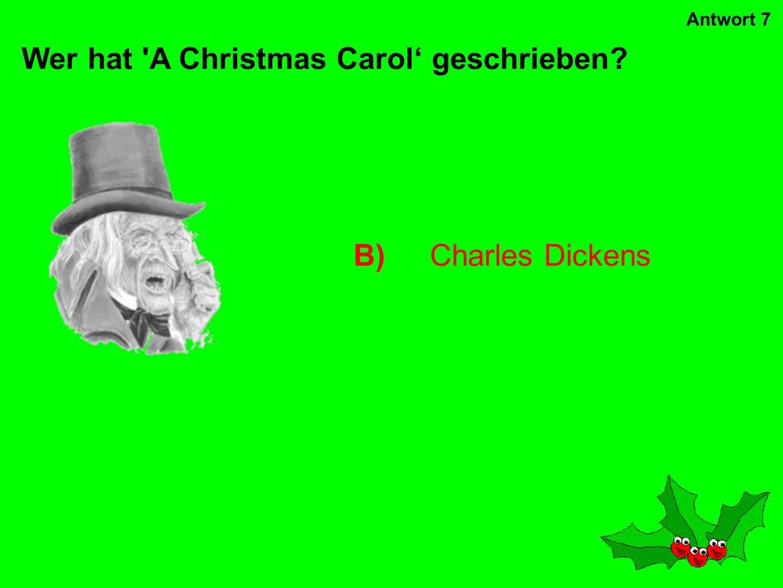 An wen glaubt dieser Sänger? D)den Weihnachtsmann Antwort 6